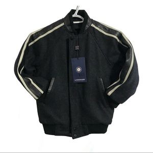 Landmark, wool and Melton bomber jacket.